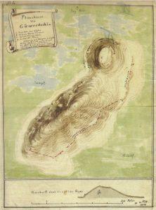 Plan des Gerçin Höyük nach Robert Koldewey.
