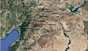 Map of Gerçin Höyük in modern Turkey.