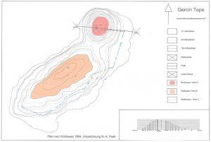 Topography of Gerçin Höyük excavation site.